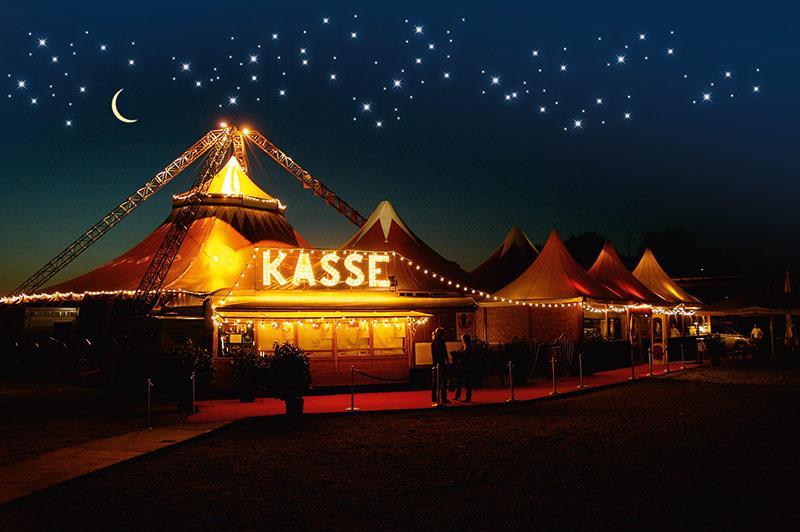 das Festival-Chapiteau vom Aachener Weihnachtscircus-Festival