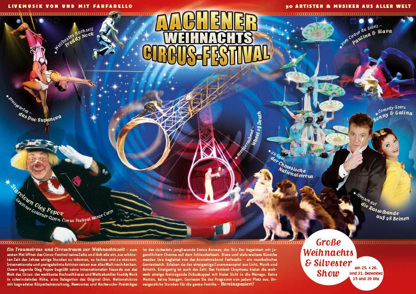 Unser Flyer zum Aachener Weihnachts-Circus-Festival
